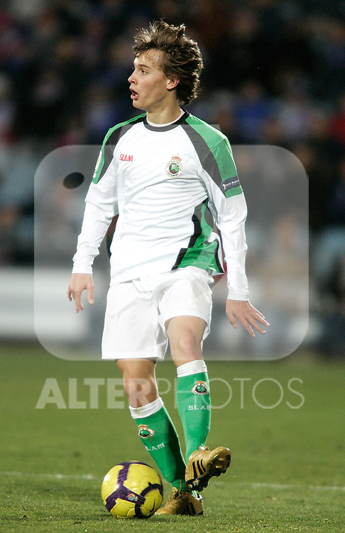 Racing de Santander's Sergio Canales during la Liga match. January 31, 2010. (ALTERPHOTOS/Alvaro Hernandez).