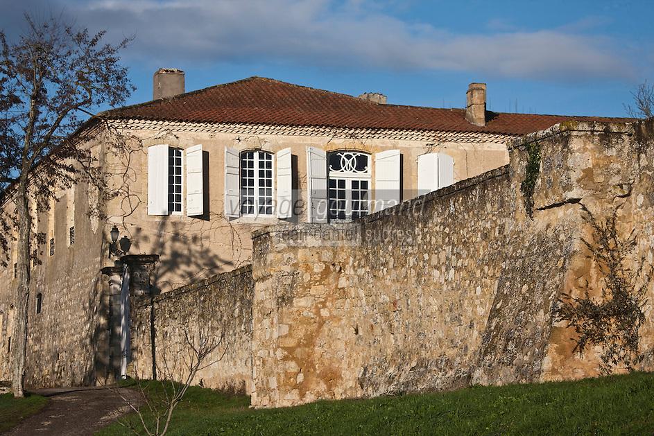 Europe/France/Midi-Pyrénées/32/Gers/Saint-Puy: Château Monluc , Berceau du Pousse-Rapière cocktail à base d'Armagnac