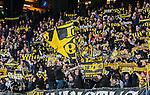 ***BETALBILD***  <br /> Solna 2015-05-10 Fotboll Allsvenskan AIK - IFK Norrk&ouml;ping :  <br /> AIK:s supportrar med flaggor och halsdukar under matchen mellan AIK och IFK Norrk&ouml;ping <br /> (Foto: Kenta J&ouml;nsson) Nyckelord:  AIK Gnaget Friends Arena Allsvenskan IFK Norrk&ouml;ping supporter fans publik supporters