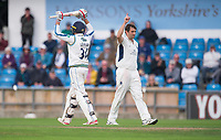 Picture by Allan McKenzie/SWpix.com - 06/09/2017 - Cricket - Specsavers County Championship - Yorkshire County Cricket Club v Middlesex County Cricket Club - Headingley Cricket Ground, Leeds, England - Middlesex's Tim Murtagh celebrates dismissing Yorkshire's Jack Leaning for 85.