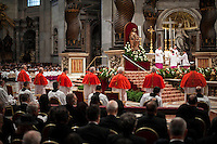 Vatican City, November 19, 2016. Un momento della cerimonia di canonizzazione nella Basilica di San Pietro. Pope Francis attends the consistory ceremony at the St Peter Basilica where he named 17 newly cardinals.