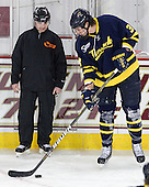 Jeff Bunyon, Kyle Bigos (Merrimack - 3) - The Boston College Eagles defeated the Merrimack College Warriors 4-2 to give Head Coach Jerry York his 900th collegiate win on Friday, February 17, 2012, at Kelley Rink at Conte Forum in Chestnut Hill, Massachusetts.