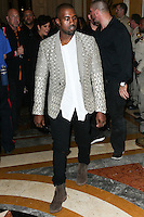 LAS VEGAS, NV, USA - OCTOBER 25: Kanye West arrives at Kim Kardashian West's 34th Birthday Celebration held at TAO Nightclub at The Venetian Las Vegas on October 25, 2014 in Las Vegas, Nevada, United States. (Photo by Xavier Collin/Celebrity Monitor)