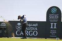 Aaron Rai (ENG) on the 11th tee during the final round of  the Saudi International powered by Softbank Investment Advisers, Royal Greens G&CC, King Abdullah Economic City,  Saudi Arabia. 02/02/2020<br /> Picture: Golffile | Fran Caffrey<br /> <br /> <br /> All photo usage must carry mandatory copyright credit (© Golffile | Fran Caffrey)