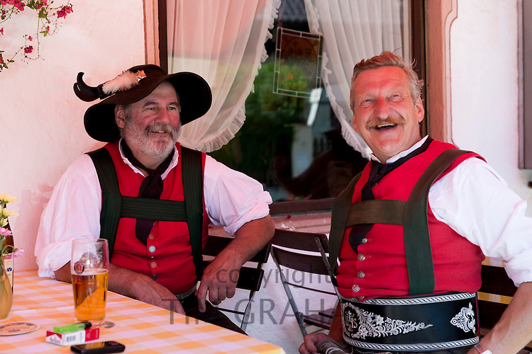 Beer festival in the village of Klais in Bavaria, Germany