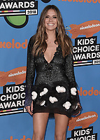 LOS ANGELES, CA - MARCH 24:  Heidi Klum at Nickelodeon's 2018 Kids' Choice Awards at The Forum on March 24, 2018 in Los Angeles, California. (Photo by Scott KirklandPictureGroup)