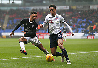 Bolton Wanderers' Antonee Robinson taking on Ryan Fredericks of Fulham<br /> <br /> Photographer Leila Coker/CameraSport<br /> <br /> The EFL Sky Bet Championship - Bolton Wanderers v Fulham - Saturday 10th February 2018 - Macron Stadium - Bolton<br /> <br /> World Copyright &copy; 2018 CameraSport. All rights reserved. 43 Linden Ave. Countesthorpe. Leicester. England. LE8 5PG - Tel: +44 (0) 116 277 4147 - admin@camerasport.com - www.camerasport.com