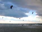 Kite surfing on Cape Cod, MA