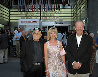 sept 2,  2003, Montreal, Quebec, Canada<br /> <br /> Serge Losique, Denise Robert, Denys Arcand <br /> <br /> The Montreal World Film Festival  pay tribute to noted Montreal producer Denise Robert.<br /> . Robert  receive the Special Prize of the Americas and three of her productions are shown within the framework of the tribute: Straight to the Heart, The Confessional and The Barbarian Invasions. <br /> <br /> The Festival runs from August 27th to september 7th, 2003