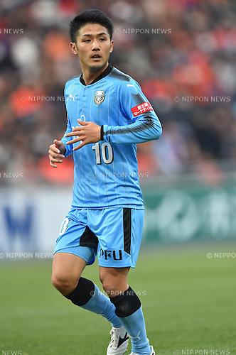 Ryota Oshima (Frontale),<br /> FEBRUARY 25, 2017 - Football / Soccer :<br /> 2017 J1 League match between Omiya Ardija 0-2 Kawasaki Frontale at NACK5 Stadium Omiya in Saitama, Japan. (Photo by AFLO)