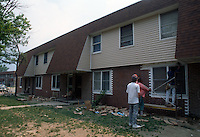 1992 May 01..Assisted Housing..Oakleaf Forest...Exteriors.West Side of Greenleaf Drive...NEG#.NRHA#..HOUSING:OaklfF 1 1:20