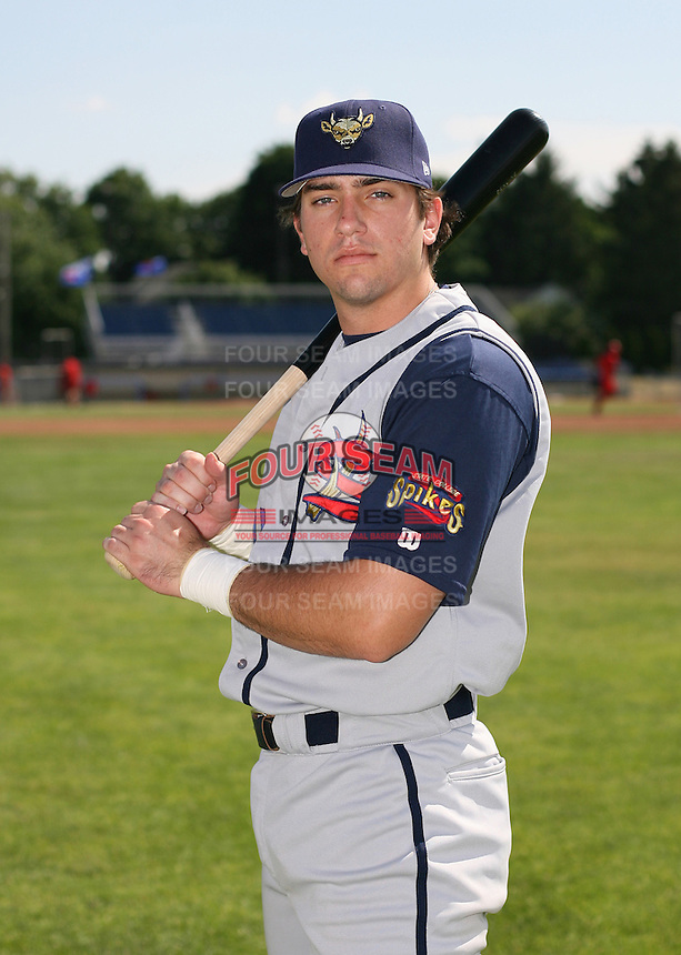 2007:  Andrew Walker of the State College Spikes poses for a photo prior to a game vs. the Batavia Muckdogs in New York-Penn League baseball action.  Photo By Mike Janes/Four Seam Images