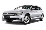 Stock pictures of low aggressive front three quarter view of a 2015 Volkswagen Passat Comfort 5 Door Wagon Low Aggressive