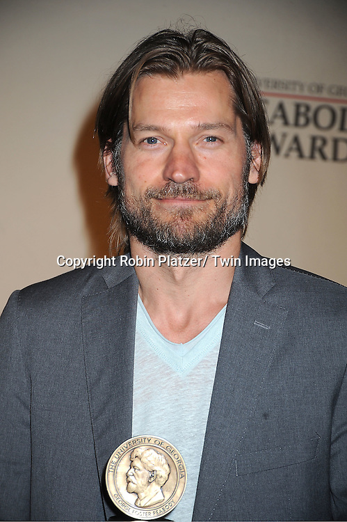 """Nicolaj Coster-Waldau of """"Game of Thrones"""" attends the 71st Annual Peabody Awards at the Waldorf Astoria Hotel in New York City on May 21, 2012."""