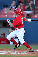 Illinois State Redbirds outfielder Eric Aguilera #33 during a game vs. the Xavier Musketeers at Chain of Lakes Stadium in Winter Haven, Florida;  March 5, 2011.  Illinois State defeated Xavier 7-6.  Photo By Mike Janes/Four Seam Images
