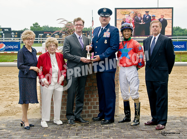 Ring the Bell for freedom Troop Tribute Race at Delaware Park on 7/3/14