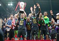 Esultanza.Anderlecht Campione del Belgio .Bruxelles 6/5/2012.Football Calcio 2011/ 2012.RSC Anderlecht vs Club Brugge - Jupiler League.Foto Insidefoto / Philippe Crochet / Photo News / Panoramic