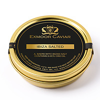 BNPS.co.uk (01202 558833)<br /> Pic: ExmoorCaviar/BNPS<br /> <br /> The 'Ibiza Salted' Caviar is infused with CBD oil.<br /> <br /> Caviar infused with cannabis oil has gone on sale in the UK for the first time - and is the ideal canape to serve to over excited relatives this Christmas.<br /> <br /> The luxury delicacy has been absorbed with trendy CBD oil - the compound found in cannabis plants - and put into 20g tins.<br /> <br /> Its makers recommend small portions of it are dolloped onto blini pancakes and offered as canapés at parties and gatherings this Christmas.<br /> <br /> And as some of the benefits of taking CBD oil include alleviating stress and anxiety, the treat is tipped to help highly-strung in-laws chillax this festive season.