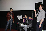 "Leo Ash Evans, Devin Haw (musical director), Zachary Prince sang ""Stand By Me/I'll Be There for You/Lean On Me""  at the 4th Annual Curtains Up for a Cure benefitting Huntington's Disease Society of America on January 31, 2011 at Village Cinema East, New York City, New York. (Photo by Sue Coflin/Max Photos)"