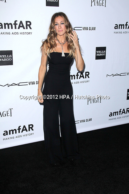 LOS ANGELES - OCT 11:  Sarah Jessica Parker arrives at the amfAR Inspiration Gala Los Angeles at Milk Studios on October 11, 2012 in Los Angeles, CA