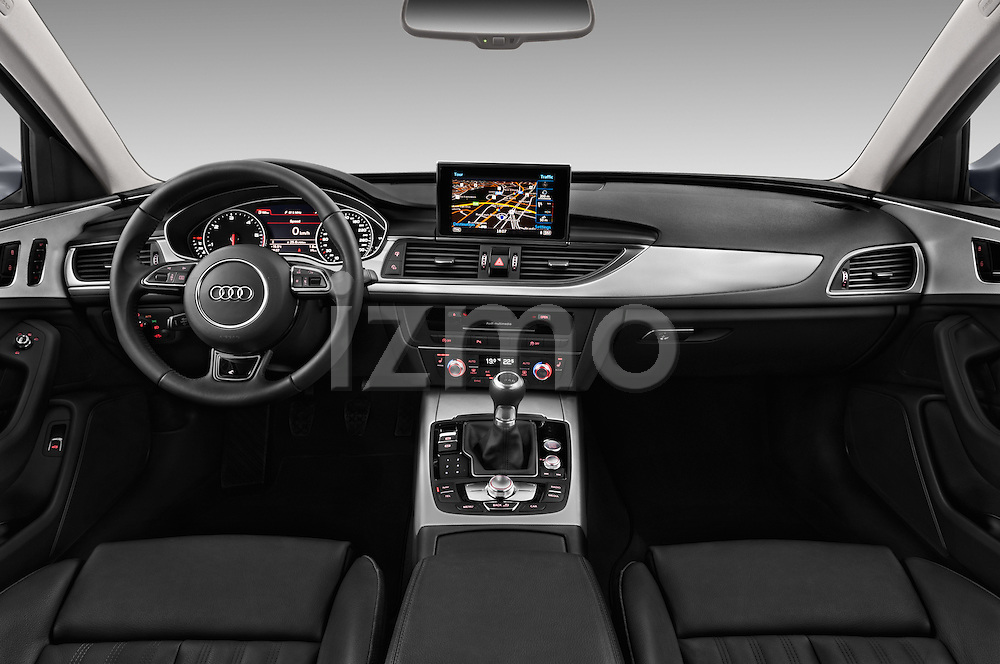 Stock photo of straight dashboard view of 2016 Audi A6 - 4 Door Sedan Dashboard
