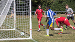 Sway FC U18's VS Parley FC U18's Pre-Season Friendly. Photo by: Simon Downing<br /> <br /> Sway FC U18's VS Parley FC U18's Pre-Season Friendly - Sunday 9th August 2015. Jubilee Fields, Sway, Hampshire, United Kingdom.
