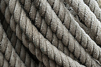 Close-up of nautical rope.