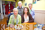 Enjoying the taste of Italian food at the opening of La Dolce Vita Restaurant in Cahersiveen on Friday night last were front l-r; Ann & Martina Murphy, back l-r; Denis & Olive Kavanagh.