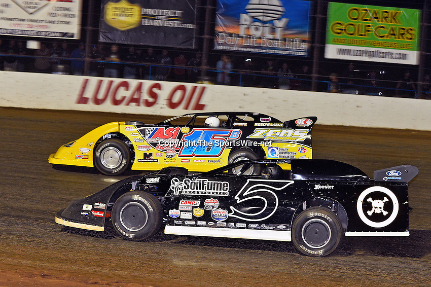 May 25, 2013; 11:03:57 PM; Wheatland, Mo., USA; The  Lucas Oil Late Model Dirt Series running the 21st Annual Lucas Oil Show-Me 100 Presented by ProtectTheHarvest.com.  Mandatory Credit: (thesportswire.net)