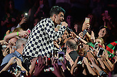 SUNRISE FL - DECEMBER 18: Joe Jonas of DNCE performs at the Y100 Jingle Ball 2015 held at The BB&T Center on December 18, 2015 in Sunrise, Florida. (Photo by Larry Marano © 2015