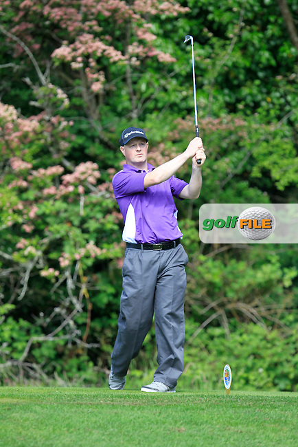 End Brady (Headfort) on the 2nd tee during Round 1 of the Irish Mid-Amateur Open Championship at New Forest on Saturday 20th June 2015.<br /> Picture:  Thos Caffrey / www.golffile.ie