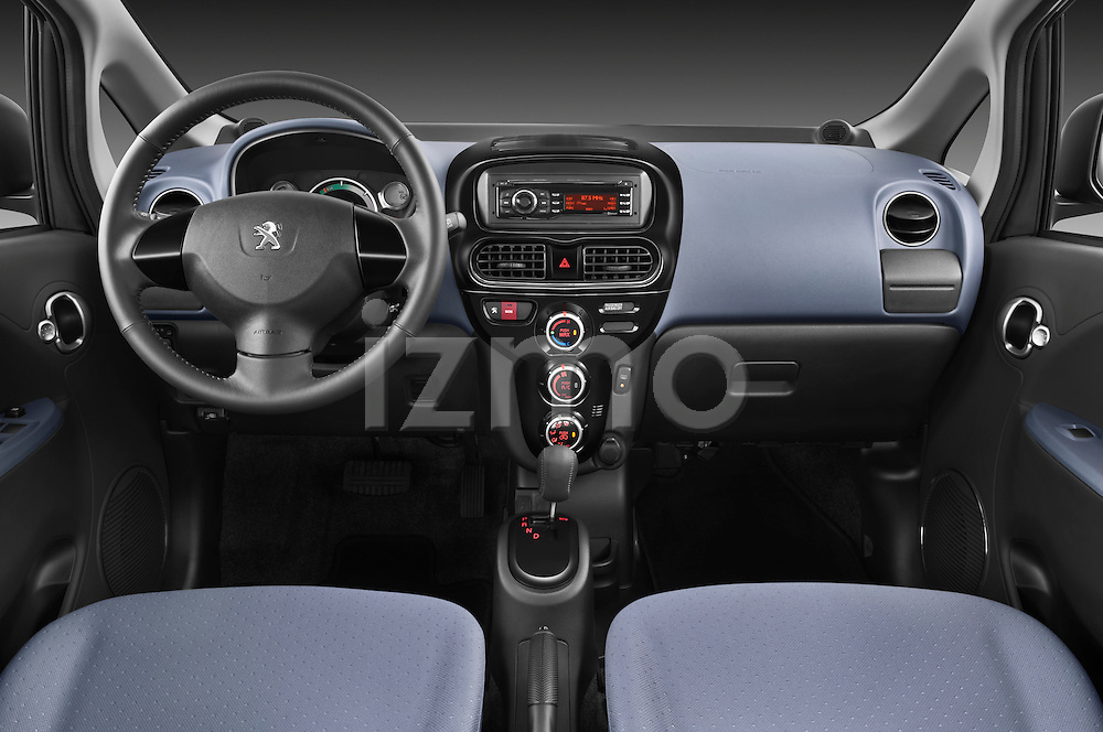 Straight dashboard view of a 2012 Peugeot iOn .