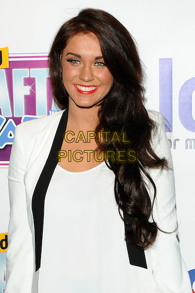 Vicky Pattison.Loaded Laftas at the Cuckoo Club, Piccadilly, London, England..February 8th, 2012.half length black jacket white pink lipstick fake tan tangoed .CAP/CJ.©Chris Joseph/Capital Pictures.
