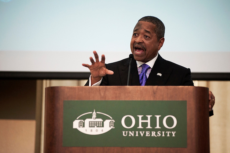 Ohio University President Roderick McDavis Speaks about the future goals of ohio University during his state of the University address, which he delivered to assembled faculty and staff during the Faculty and Staff Convocation ceremony on August 28th.