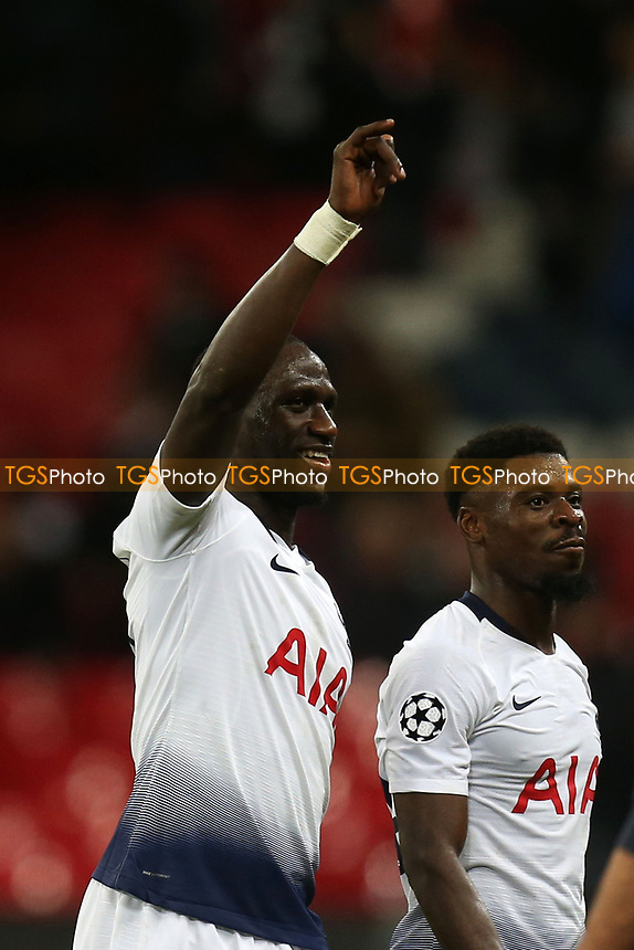 Moussa Sissoko of Tottenham Hotspur after Tottenham Hotspur vs Inter Milan, UEFA Champions League Football at Wembley Stadium on 28th November 2018