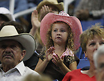 A young bull rider fan.  Photo by Tom Smedes.
