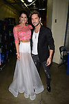 CORAL GABLES, FL - JULY 17: (EXCLUSIVE) Vanessa De Roide and  David Bisbal poses backstage during the Premios Juventud 2014 at The BankUnited Center on July 17, 2014 in Coral Gables, Florida.  (Photo by Johnny Louis/jlnphotography.com)