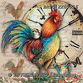 Alfredo, STILL LIFE STILLLEBEN, NATURALEZA MORTA, paintings+++++,BRTOXX09016,#i# ,rooster,clock