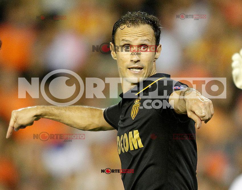 AS Monaco FC's Ricardo Carvalho during Champions League 2015/2016 Play-Offs 1st leg match. August  19,2015. (ALTERPHOTOS/Acero)