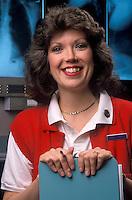 Portrait of a nurse at at nurses station