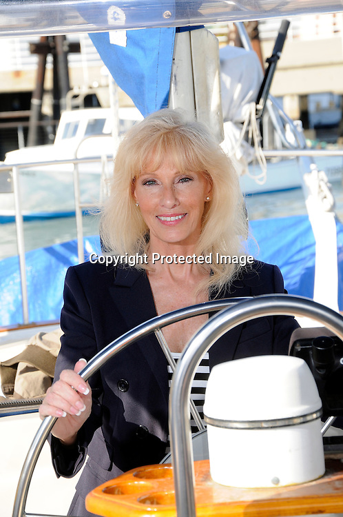 Stock photo of healthy Senior on boat