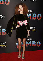 HOLLYWOOD, CA - MARCH 11: Nico Parker attends the premiere of Disney's 'Dumbo' at El Capitan Theatre on March 11, 2019 in Los Angeles, California.<br /> CAP/ROT/TM<br /> &copy;TM/ROT/Capital Pictures