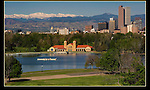 State Capitol seen from City Park with Mount Evans behind. From John's 5th book.<br />