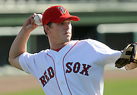 May 30, 2009: Infilder Zach Gentile (7) of  the Greenville Drive, Class A affiliate of the Boston Red Sox, in a game against the Charleston RiverDogs at Fluor Field at the West End in Greenville, S.C. Photo by: Tom Priddy/Four Seam Images
