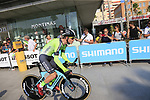 Garikoitz Bravo Oiarbide (ESP) Euskadi-Murias during Stage 1 of the La Vuelta 2018, an individual time trial of 8km running around Malaga city centre, Spain. 25th August 2018.<br /> Picture: Ann Clarke | Cyclefile<br /> <br /> <br /> All photos usage must carry mandatory copyright credit (© Cyclefile | Ann Clarke)