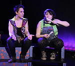 Dani Martineck and Maggie Metnick during The Dare Tactic production of 'A Roller Rink Temptation' at  WOW Cafe on May 25, 2018 in New York City.