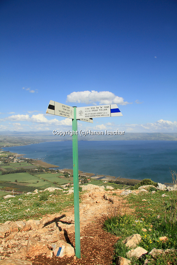 Lower Galilee, Israel Trail on Mount Arbel overlooking the Sea of Galilee