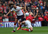 Lyle Taylor of Charlton Athletic fouled by Ryan Shotton of Middlesbrough during Charlton Athletic vs Middlesbrough, Sky Bet EFL Championship Football at The Valley on 7th March 2020