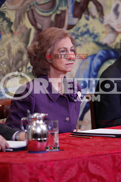 Queen Sofia of Spain attends the CREFAT Foundation Awards at Zarzuela Palace in Madrid.November 06, 2012.(ALTERPHOTOS/Harry S. Stamper) /NortePhoto .<br /> ©NortePhoto