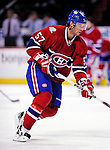 22 March 2010: Montreal Canadiens' left wing forward Benoit Pouliot warms up prior to a game against the Ottawa Senators at the Bell Centre in Montreal, Quebec, Canada. The Senators shut out the Canadiens 2-0 in their last meeting of the regular season. Mandatory Credit: Ed Wolfstein Photo
